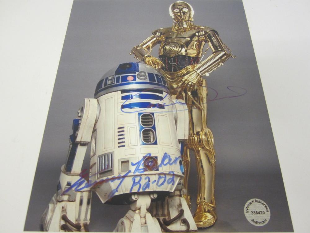 Lot 644: Anthony Daniels Kenny Baker Star Wars signed autographed 8x10 Photo Certified Coa