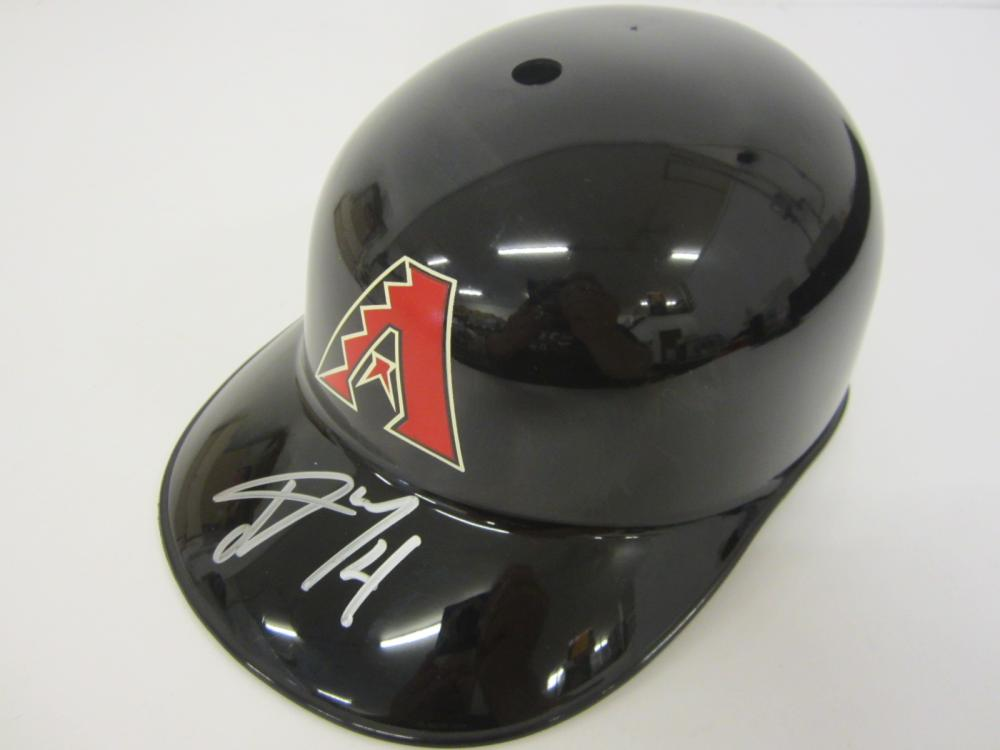 Lot 667: Ketel Marte Diamondbacks signed Full Sized Souvenir Helmet Certified Coa