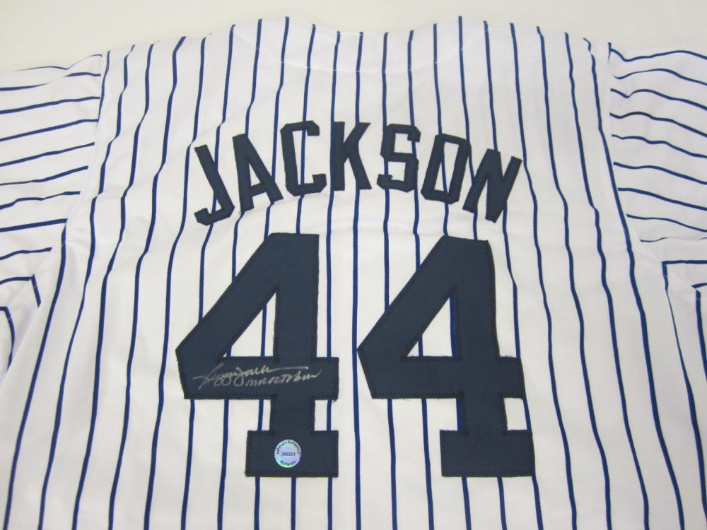 Lot 652: Reggie Jackson Yankees signed autographed Jersey Certified Coa