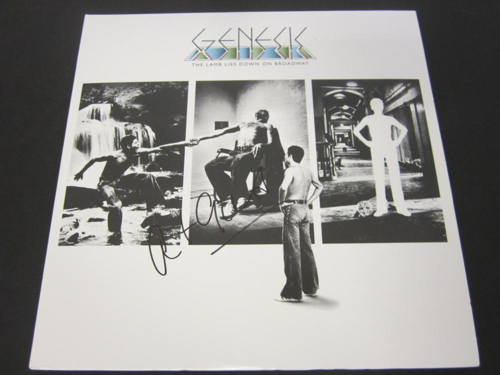 Lot 659: Genesis Pete Gabriel signed autographed Record Album Certified Coa
