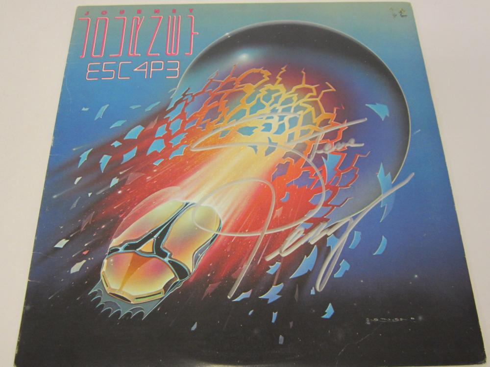 Lot 664: Journey Steve Perry signed autographed Record Album Certified Coa