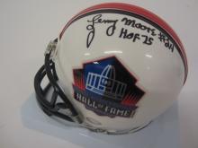 Lot 676: LENNY MOORE SIGNED AUTOGRAPHED NFL HALL OF FAME MINI HELMET CERTIFIED JSA COA