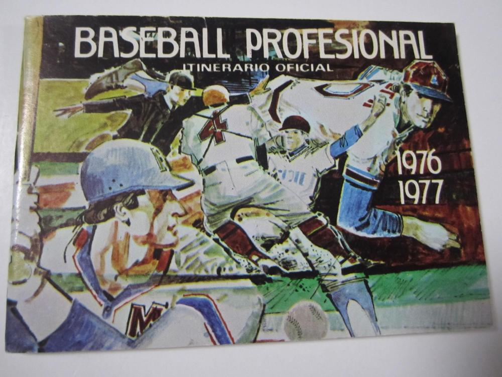 Lot 678: 1976/1977 PUERTO RICAN PROFESSIONAL BASEBALL SCHEDULE BOOKLET