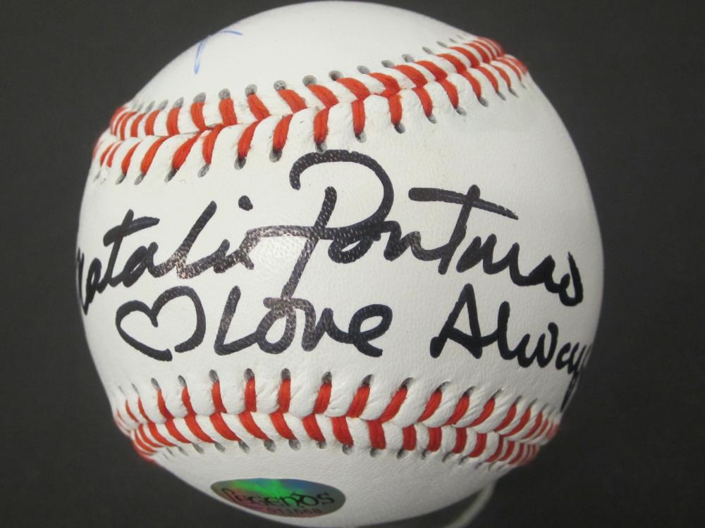 Lot 674: NATALIE PORTMAN AND 1 OTHER STAR WARS SIGNED BASEBALL CERTIFIED COA
