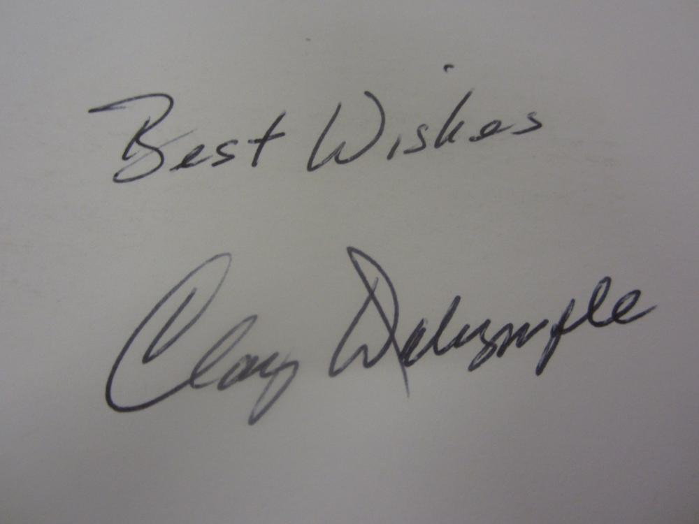 Lot 686: CLAY DALRYMPLE SIGNED AUTOGRAPHED 3X5 INDEX CARD COA