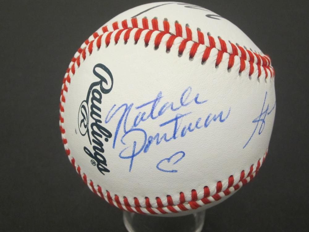 Lot 681: NATALIE PORTMAN AND 2 OTHERS STAR WARS SIGNED BASEBALL CERTIFIED COA