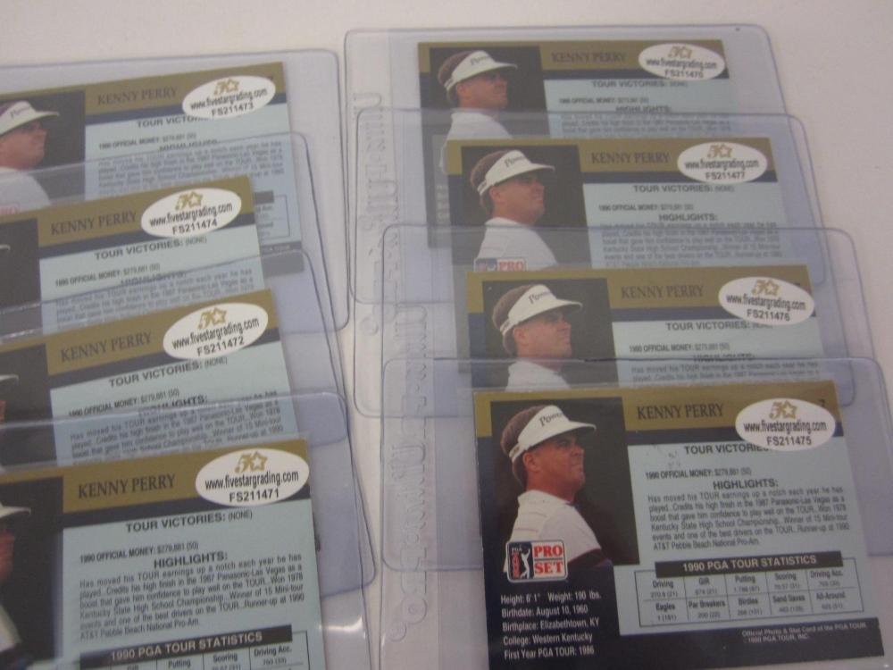 Lot 695: (6)KENNY PERRY SIGNED AUTOGRAPHED PROSET PGA GOLF CARDS COA