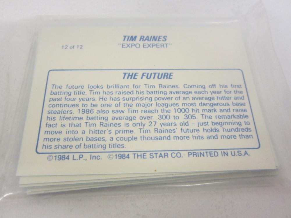Lot 699: 1987 STAR TIME RAINES 12 OF 12 SET SEALED