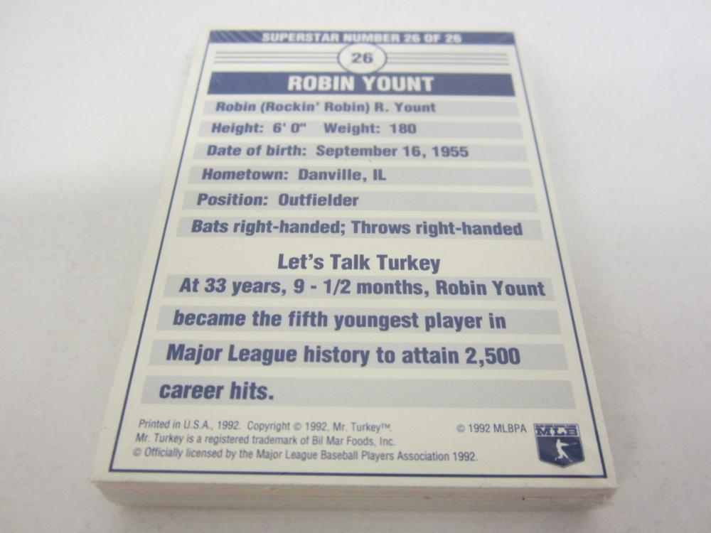 Lot 700: 1992 MR. TURKEY SUPERSTAR BASEBALL SEALED SET