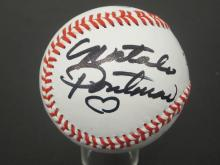 Lot 704: NATALIE PORTMAN AND 1 OTHER STAR WARS SIGNED BASEBALL CERTIFIED COA