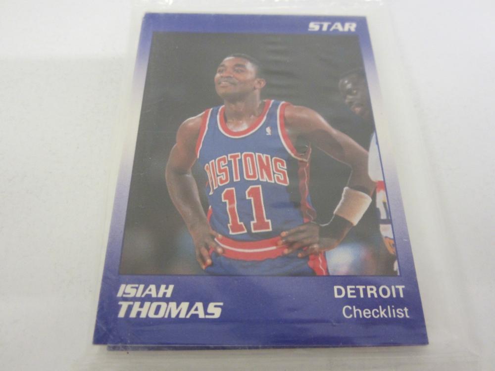 Lot 702: 1991 STAR BASKETBALL ISIAH THOMAS 12 CARD COMPLETE SET