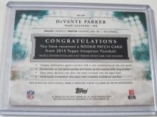 Lot 712: 2015 TOPPS ROOKIE PATCH CARD 102/125 DEVANTE PARKER MIAMI DOLPHINS SPORTS CARD #RP-DP