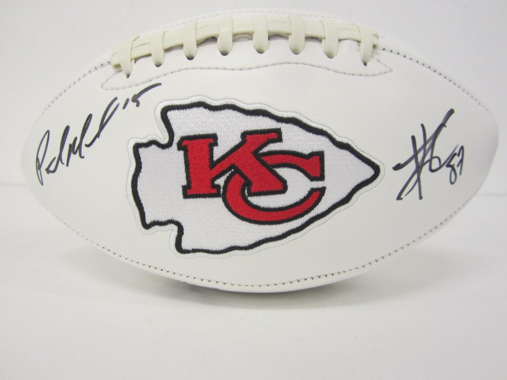 Lot 724: 2019 Chiefs Team signed Football Mahomes Hill and others Certified Coa