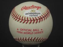 Lot 723: Muhammad Ali with Classis Clay Inscription Hand signed Autographed Rawlings official major league 1994 World Series Baseball Certified