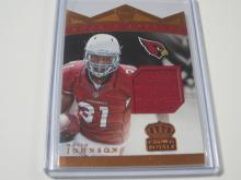 Lot 719: 2015 PANINI CROWN ROYALE FOOTBALL ROOKIE JERSEY RELIC HOLO 072/198 DAVID JOHNSON CARDINALS SPORTS CARD #RRM-DJ