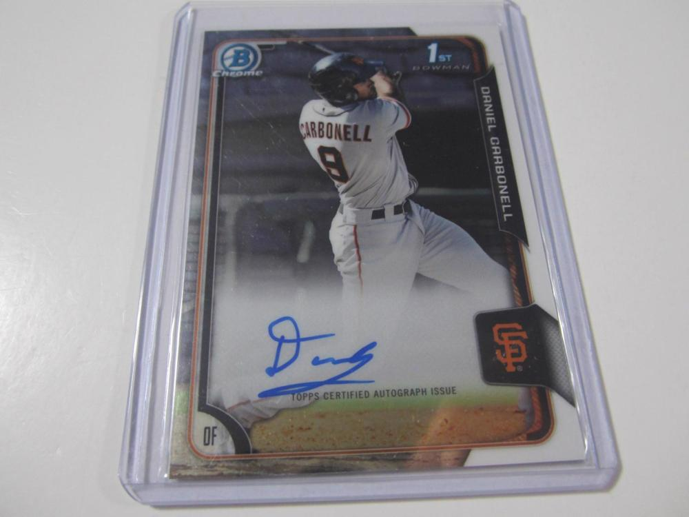 Lot 733: 2015 BOWMAN CHROME DANIEL CARONELL SIGNED AUTOGRAPHED GIANTS CARD