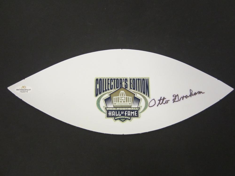 Lot 725: Otto Graham Browns signed Football Panel Certified Coa