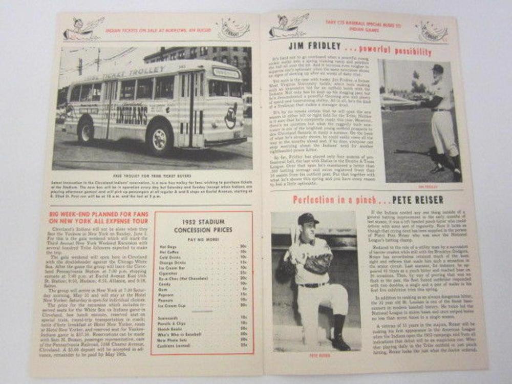 Lot 740: 1962 Cleveland Indians vs NY Yankees Scored Scorecard (Feller/Doby/Rosen/Rizzuto/Martin etc)