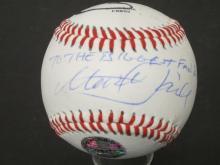 Lot 738: Mark Hamill Carrie Fisher Star Wars signed Baseball Certified Coa
