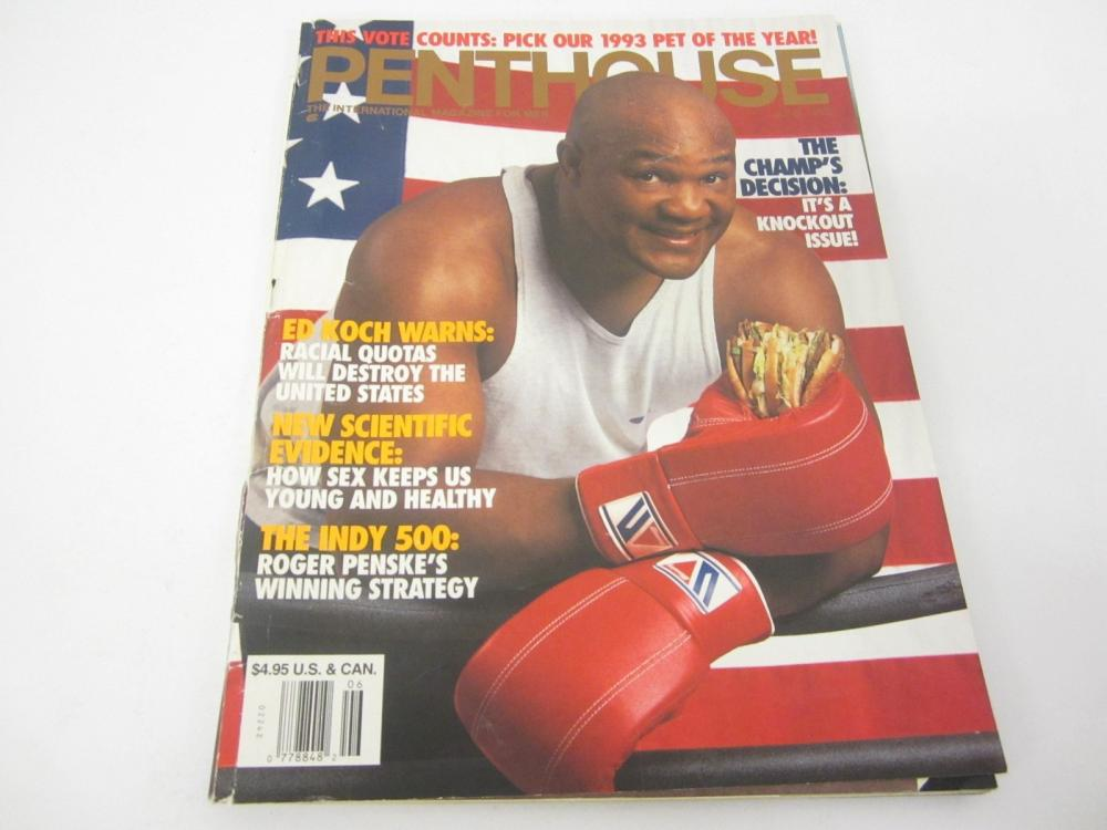 Lot 751: PENTHOUSE(GEORGE FOREMAN)MAGAZINE