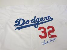 Lot 753: Sandy Koufax Dodgers signed autographed Jersey Certified Coa