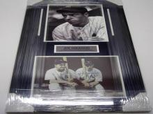 Lot 760: Joe DiMaggio NY Yankees Signed Autographed Matted & Framed 11x14 Photo JSA CoA