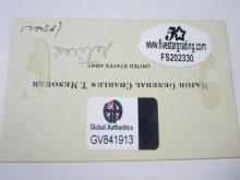 Lot 756: Major General Charles Menoher (WWI US Army) Signed Cut Certified CoA
