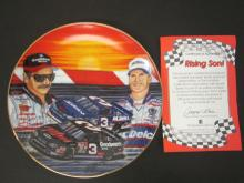 Lot 770: DALE EARNHARDT RISING SON OFFICAL GLASS HAMILTON PLATE FROM EARNHARDT COLLECTION
