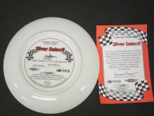 Lot 773: DALE EARNHARDT SILVER SELECT OFFICAL GLASS HAMILTON PLATE FROM EARNHARDT COLLECTION