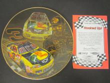 Lot 772: DALE EARNHARDT HOOKED UP OFFICAL GLASS HAMILTON PLATE FROM EARNHARDT COLLECTION