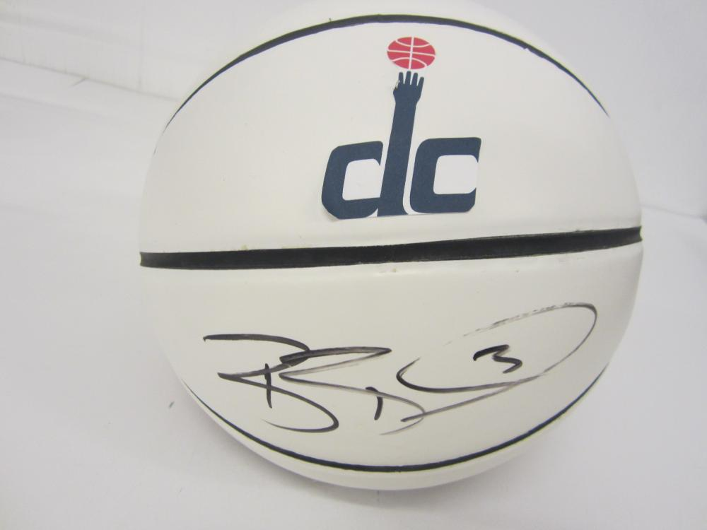 Lot 780: BRADLEY BEAL WASHINGTON WIZARDS SIGNED BASKETBALL IN CASE CERTIFIED SGC COA