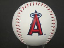"""Lot 779: MIKE TROUT LOS ANGELES ANGELS SIGNED BASEBALL """"HAPPY BIRTHDAY"""" CERTIFIED COA"""
