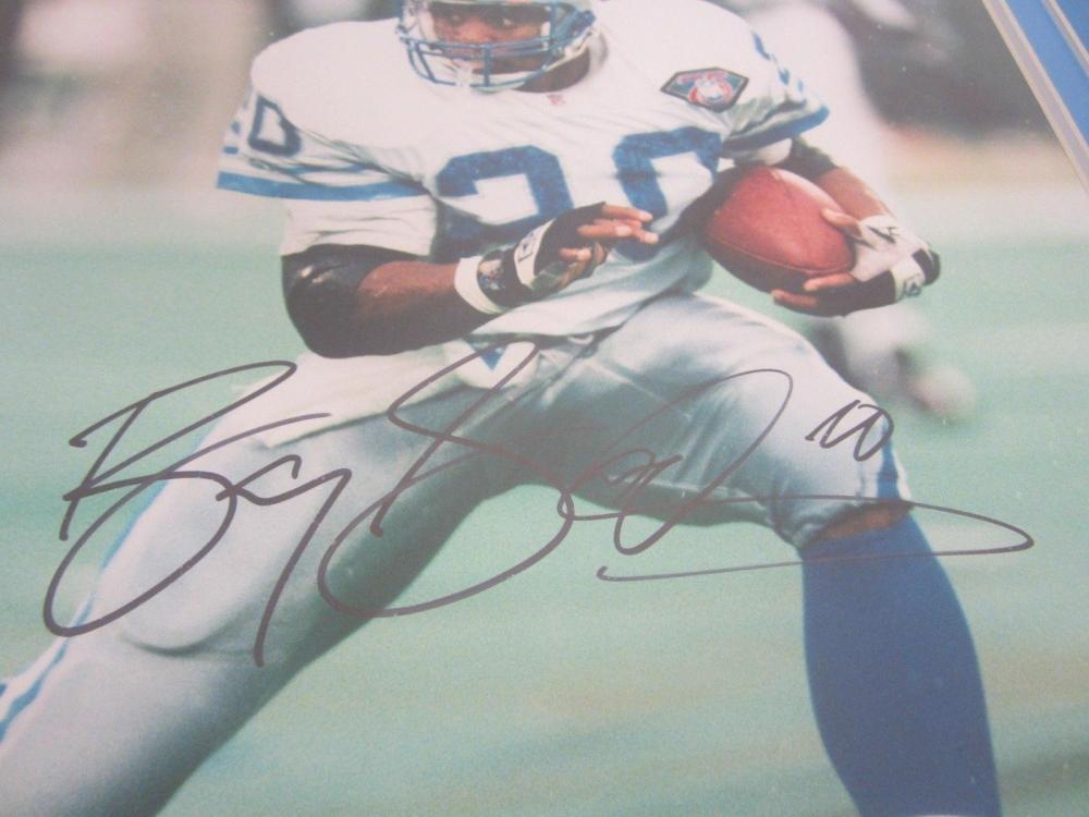Lot 797: Barry Sanders Lions Signed Autographed Framed 16x20 Photo TriStar CoA