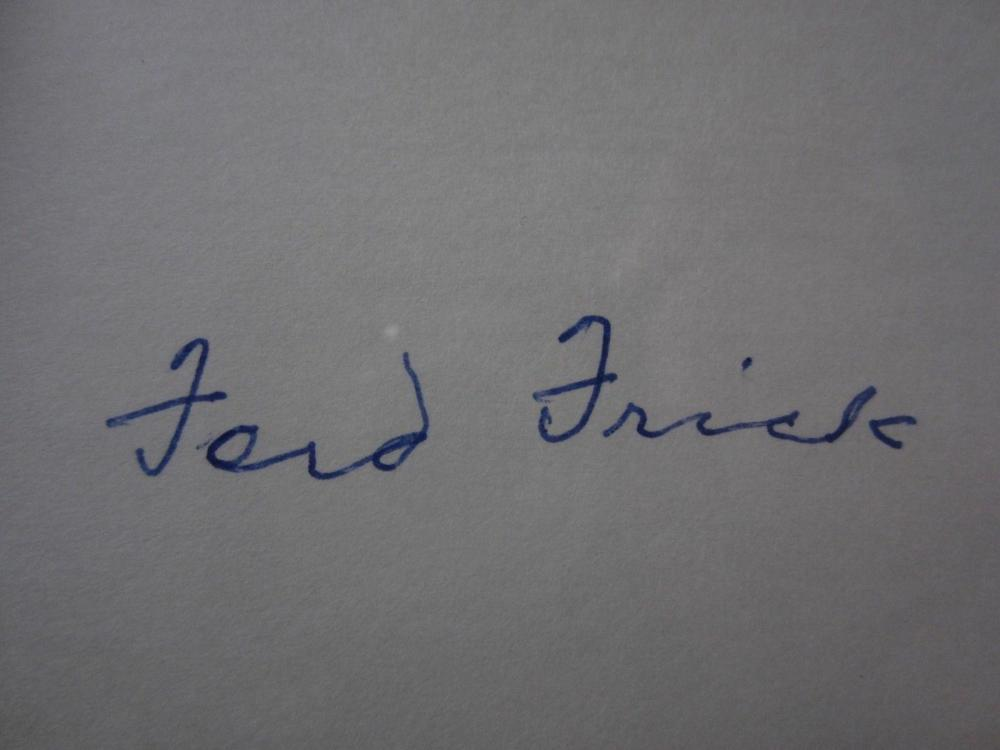 Lot 792: Ford Frick (3rd MLB Commiss) Signed Autographed Index Card Certified CoA