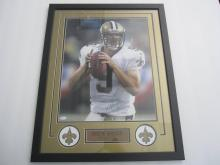 Lot 800: Drew Brees Saints Signed Autographed Framed 16x20 Photo Certified CoA