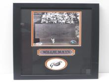 Lot 806: Willie Mays SF Giants Signed Autographed Framed 8x10 Photo PSA/DNA CoA