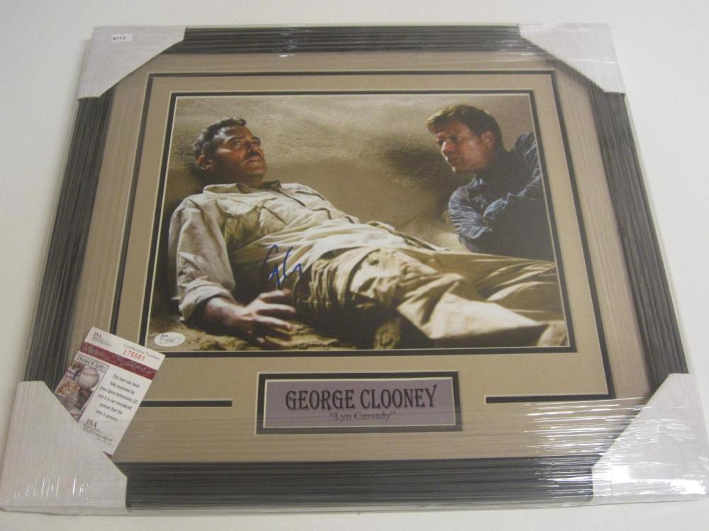 Lot 812: George Clooney Signed Autographed Framed 11x14 Photo JSA CoA