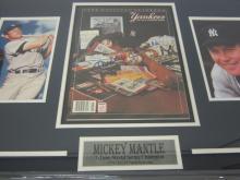 Lot 822: MICKEY MANTLE YANKEES SIGNED FRAMED YANKEE PROGRAM CERTIFIED COA