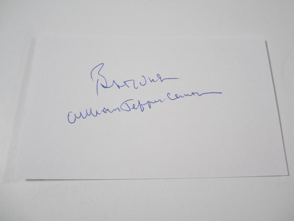 Lot 830: President Bill Clinton signed autographed 3x5 Index Card Certified Coa