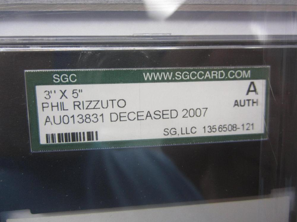 Lot 829: Phil Rizzuto NY Yankees Signed Autographed Framed Index Card Certified CoA