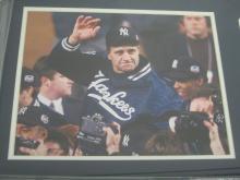 Lot 824: Joe Torre NY Yankees Signed Autographed Framed Jersey Number w/ Photo PSA/DNA CoA