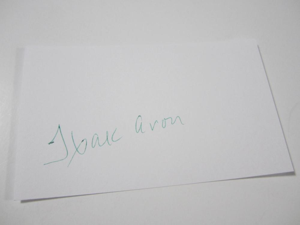 Lot 834: Hank Aaron Braves signed autographed 3x5 Index Card Certified Coa