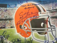 Lot 838: 2012 Cleveland Browns Team Signed Autographed Large Metal Sign (26 Autos) Certified CoA
