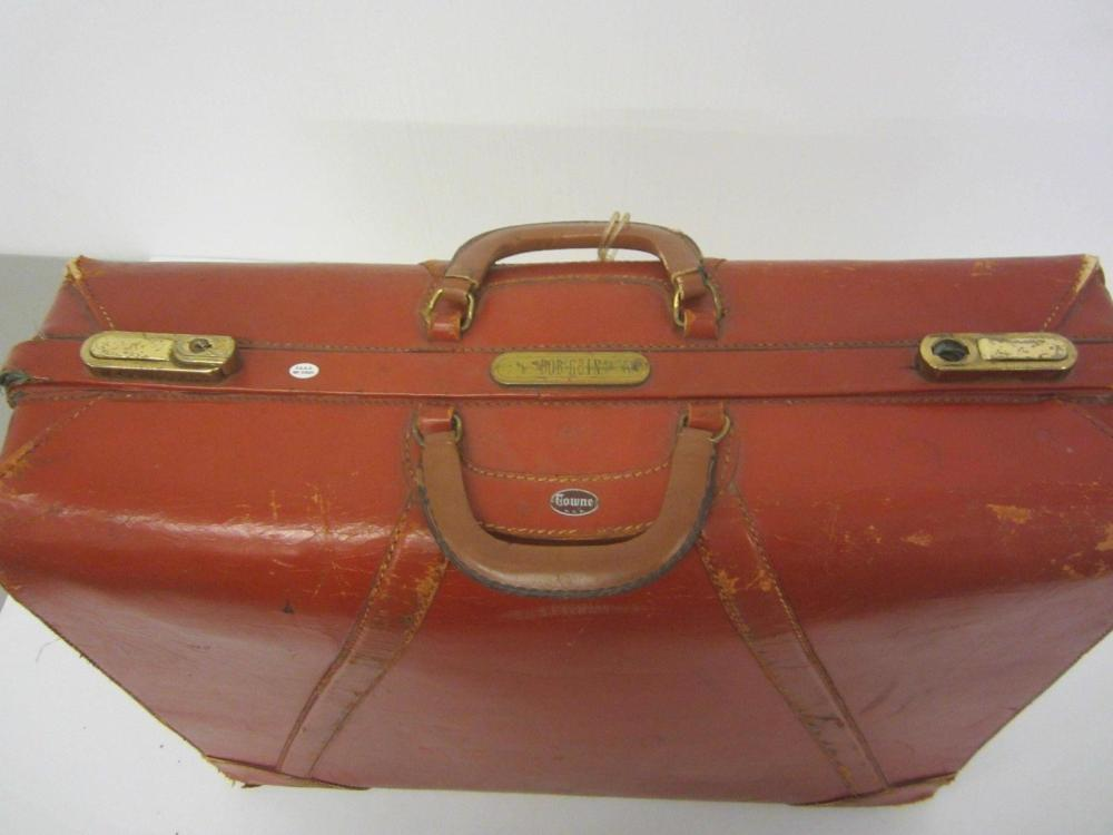 Lot 841: Bob Gain Browns Authentic NFL Towne Leather Travel Case Certified CoA