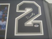 Lot 823: Don Mattingly NY Yankees Signed Autographed Framed Jersey Number w/ Photo PSA/DNA CoA