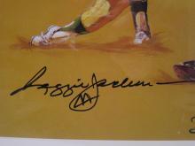 Lot 845: Reggie Jackson NY Yankees Signed Autographed Framed Litho Artist Signed Certified CoA
