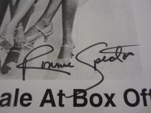 Lot 847: Ronnie Spector & The Ronettes Signed Autographed Poster Certified CoA