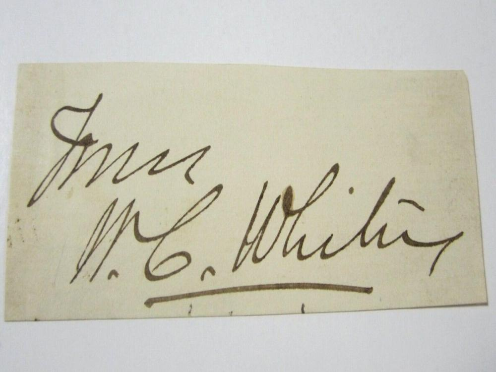 Lot 850: William Collins Whitney (Sec of Navy) Signed Autographed 1800s Cut Certified CoA