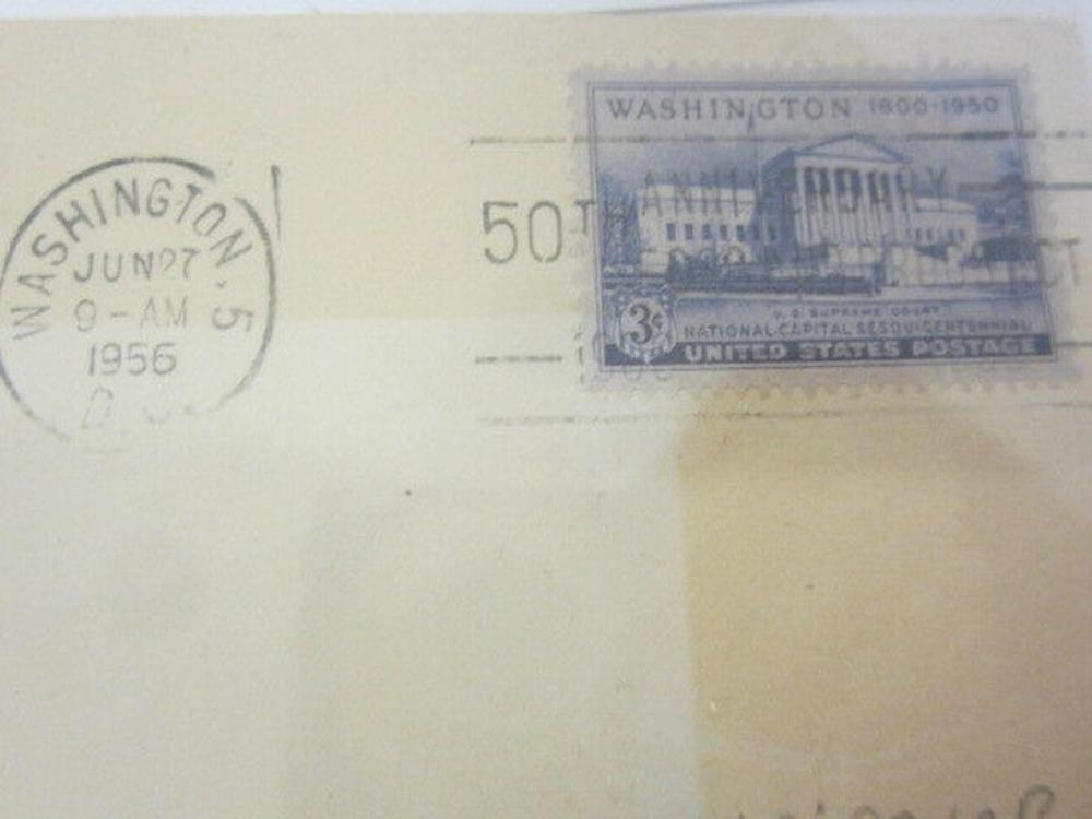 Lot 851: Stanley F. Reed (Supreme Court) Signed Autographed Envelope Certified CoA
