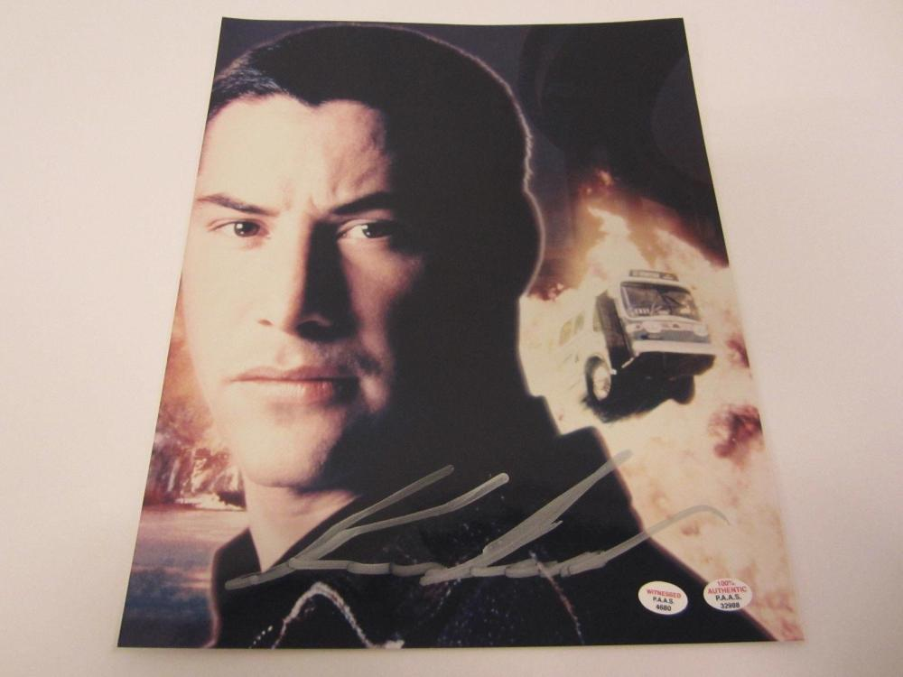 """Lot 856: Keanu Reeves (Actor) Signed Autographed """"Speed"""" 8x10 Photo Certified CoA"""